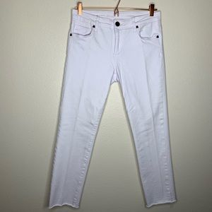 Kut from the Kloth White Skinny Ankle Jeans
